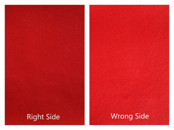 Cotton Fleece Brushed Red