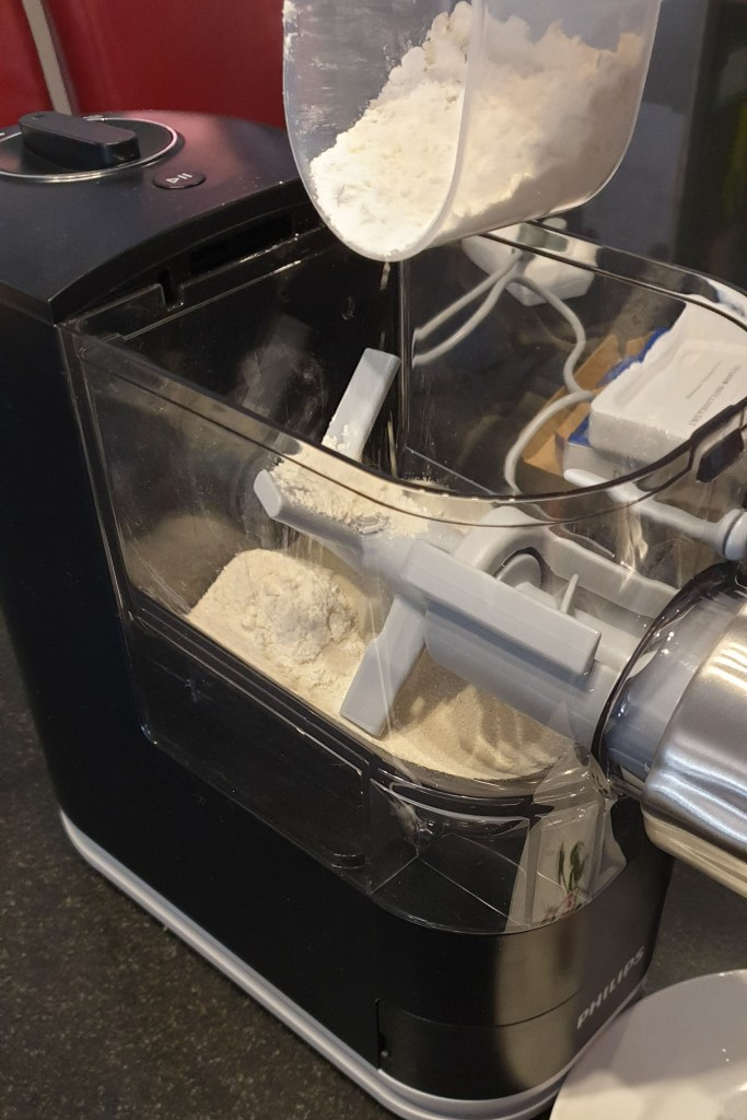 Philips Pasta Maker Review - Adding dry ingredients