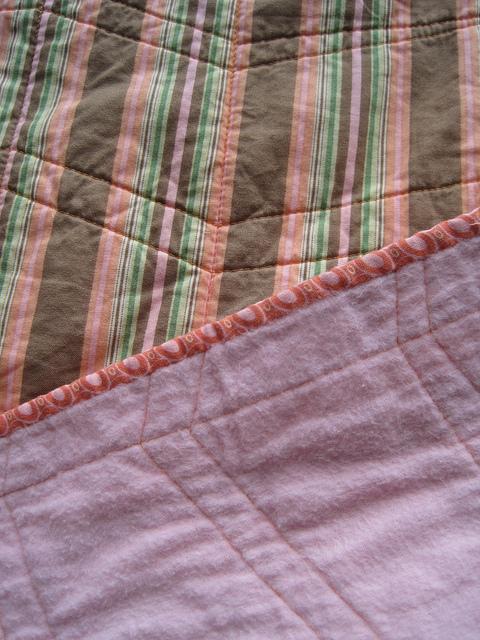 sewkatiedid/whole cloth zig-zag quilt