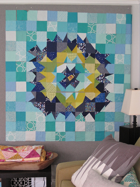 sewkatiedid/Night Owl Supernova Quilt