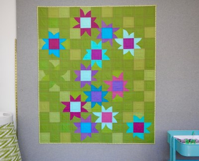 Improv Nine-Patch Petals Quilt