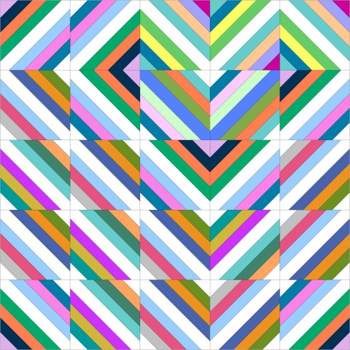 sew katie did   Heart Strings Quilt Layout Diagram and Tutorial