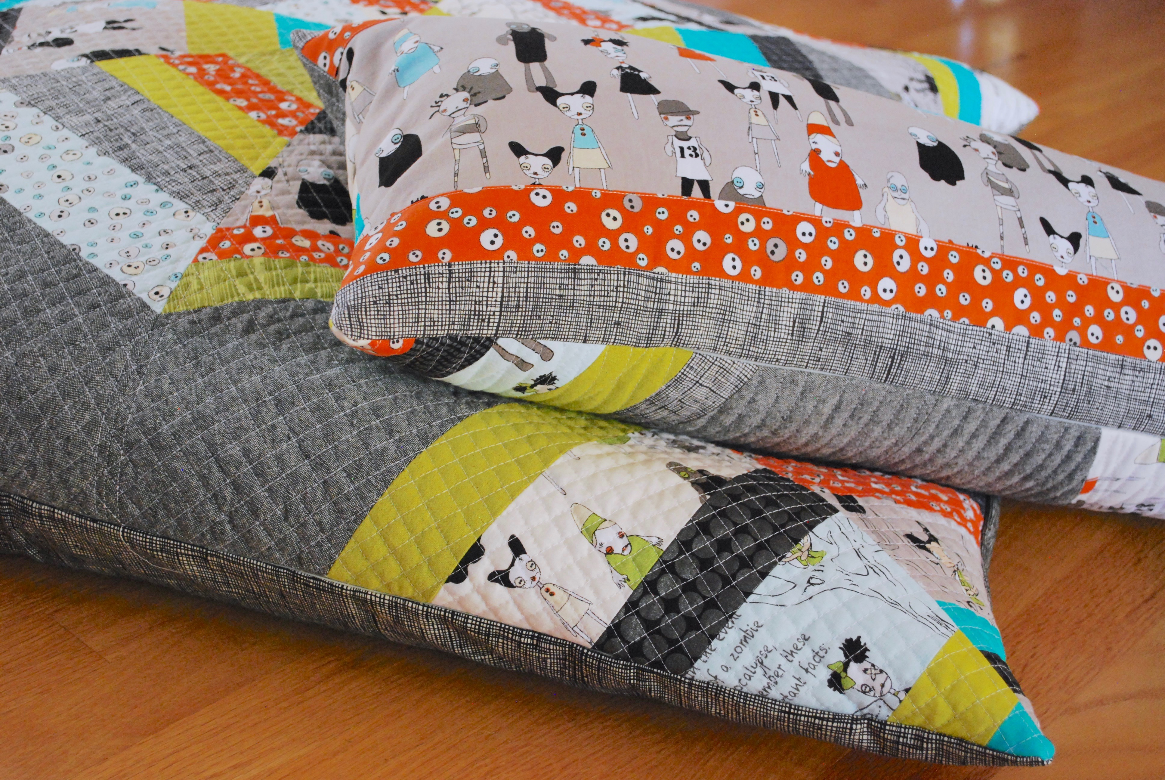 sew katie did |halloween spiderweb block pillow workshop