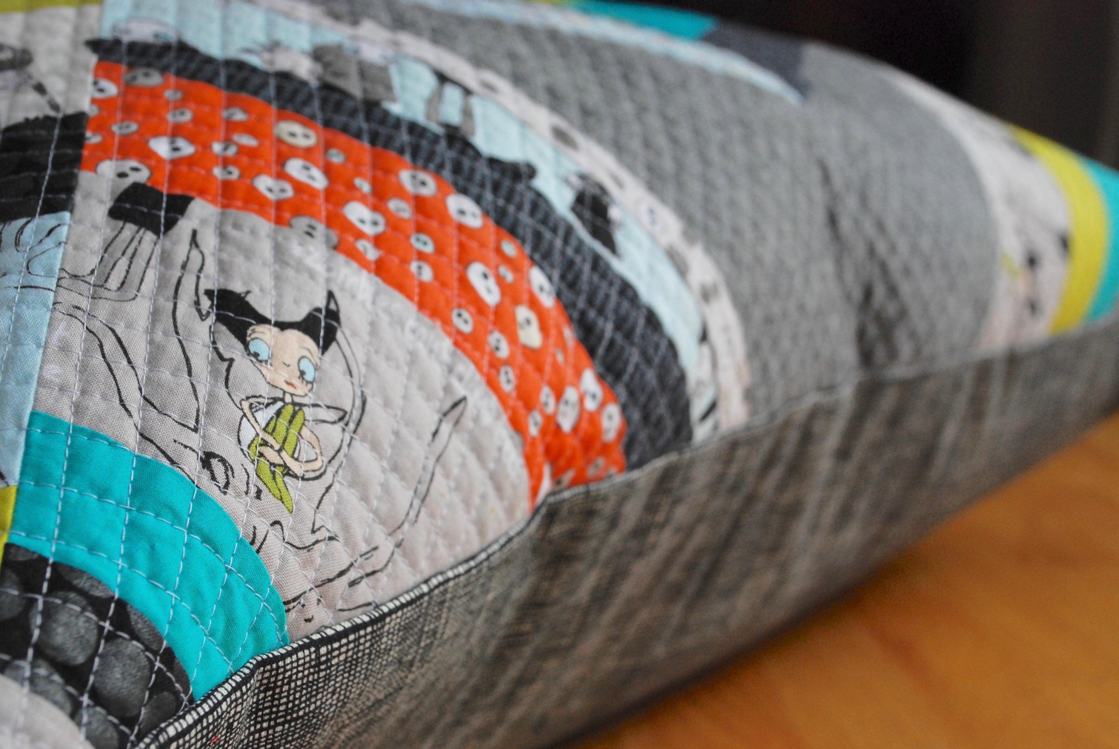 sew katie did | Halloween spiderweb quilt block workshop