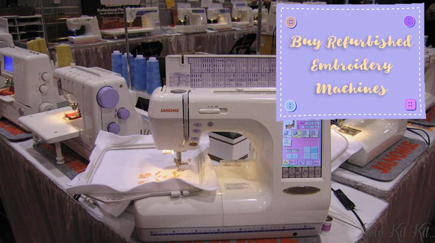 Buy Refurbished Embroidery Machines
