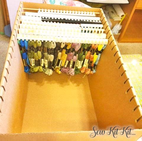 How To Store Embroidery Floss - Sew Kit Kit