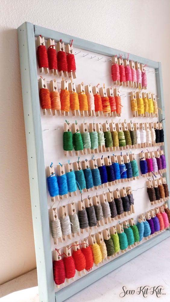 How to store embroidery floss 3
