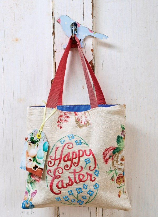 Easter Embroidered Bag And Egg Cosies - Free Sewing