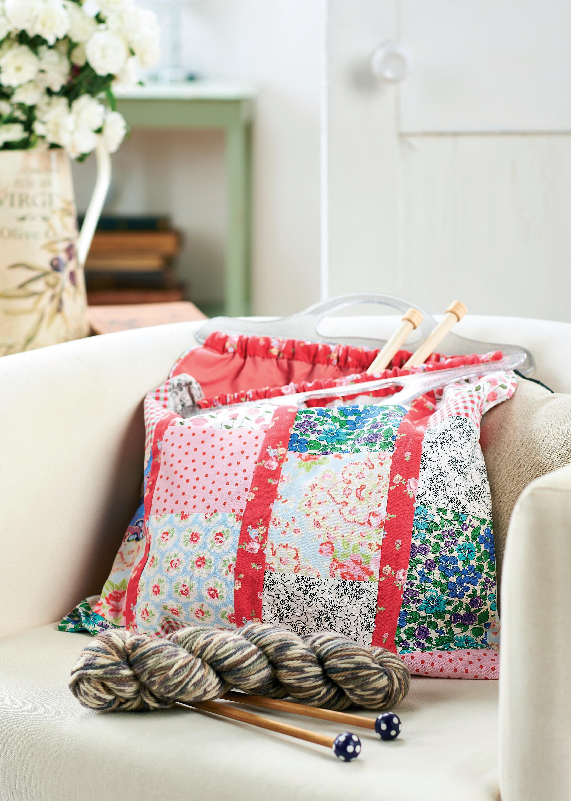 Patchwork Project Knitting Bag Free Sewing Patterns