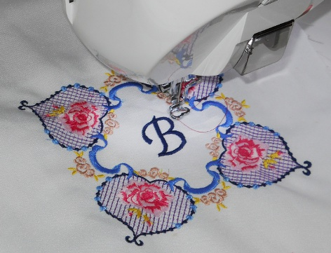 Beautiful monogramming at Sew Much Fun, where South Florida Customers are Number One!