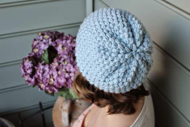 Puff Stitch Slouchy Beanie Crochet Tutorial Sewrella
