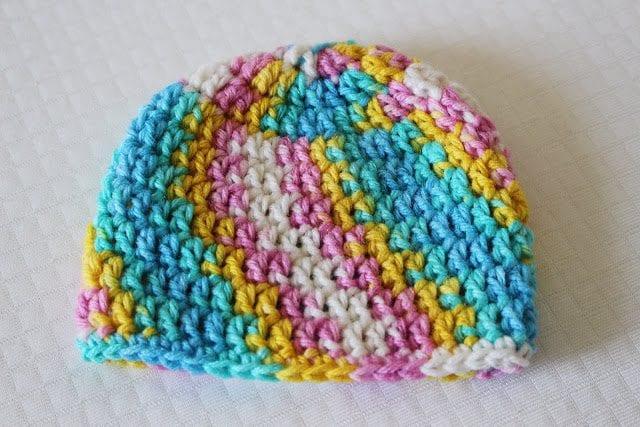 30 Minute Crochet Newborn Baby Beanie Sewrella