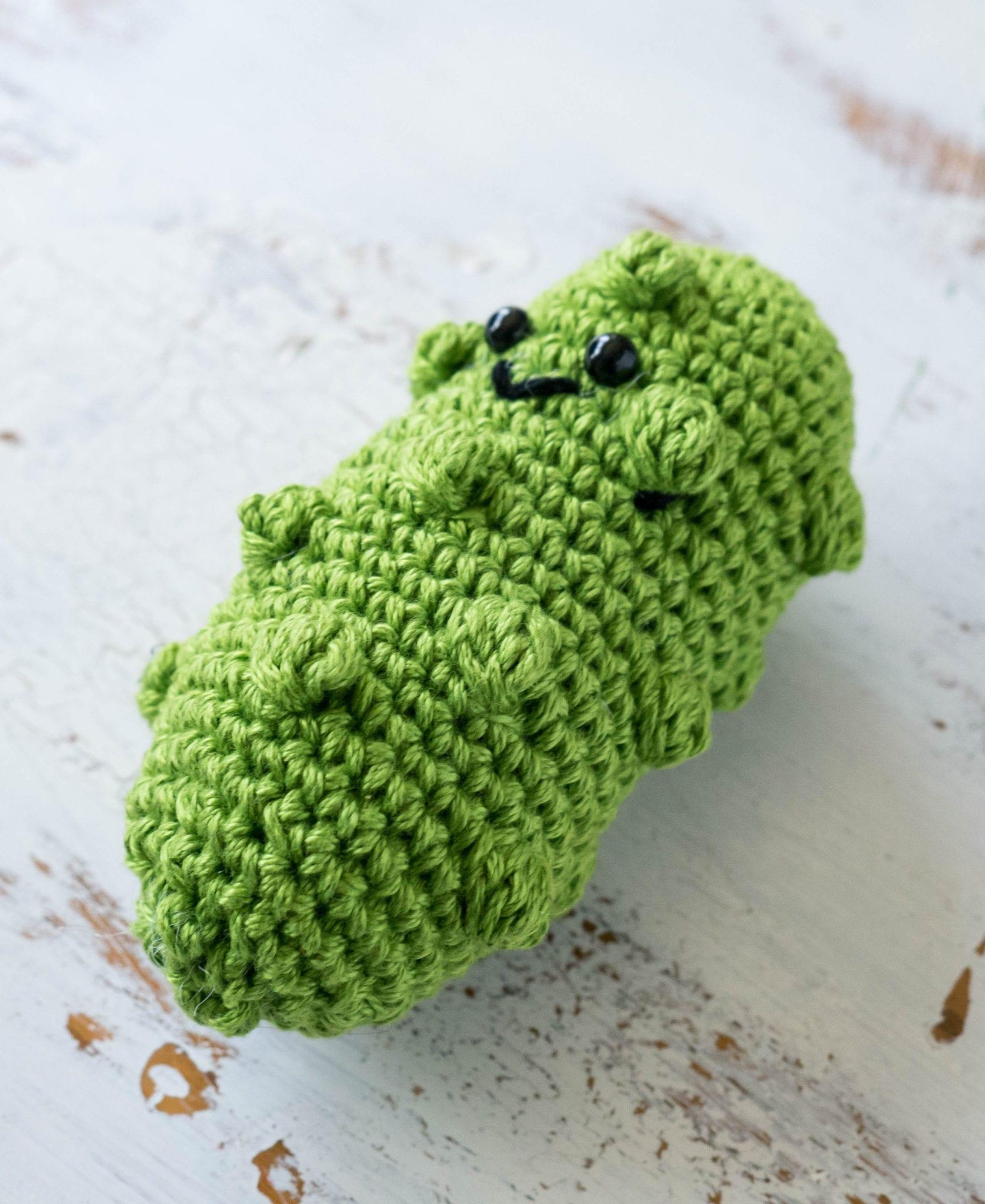 Christmas Tree Pickle Tradition: Crochet German Pickle Christmas Ornament