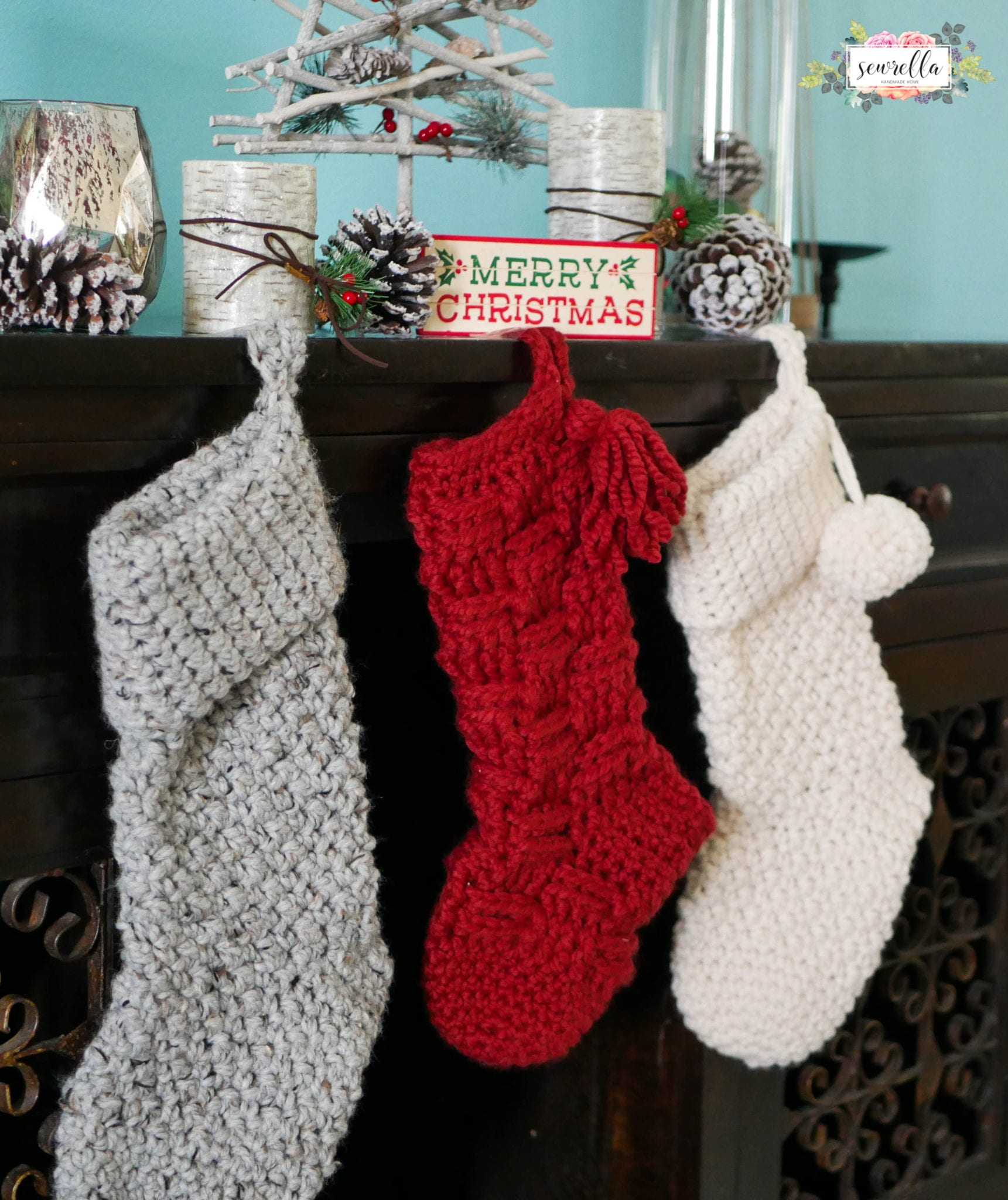 Jumbo Crochet Christmas Stockings - Sewrella