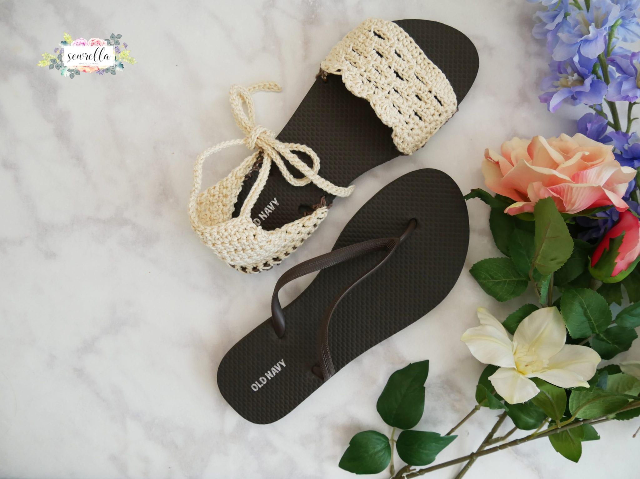 Crochet Sandals With Flip Flop Soles Sewrella