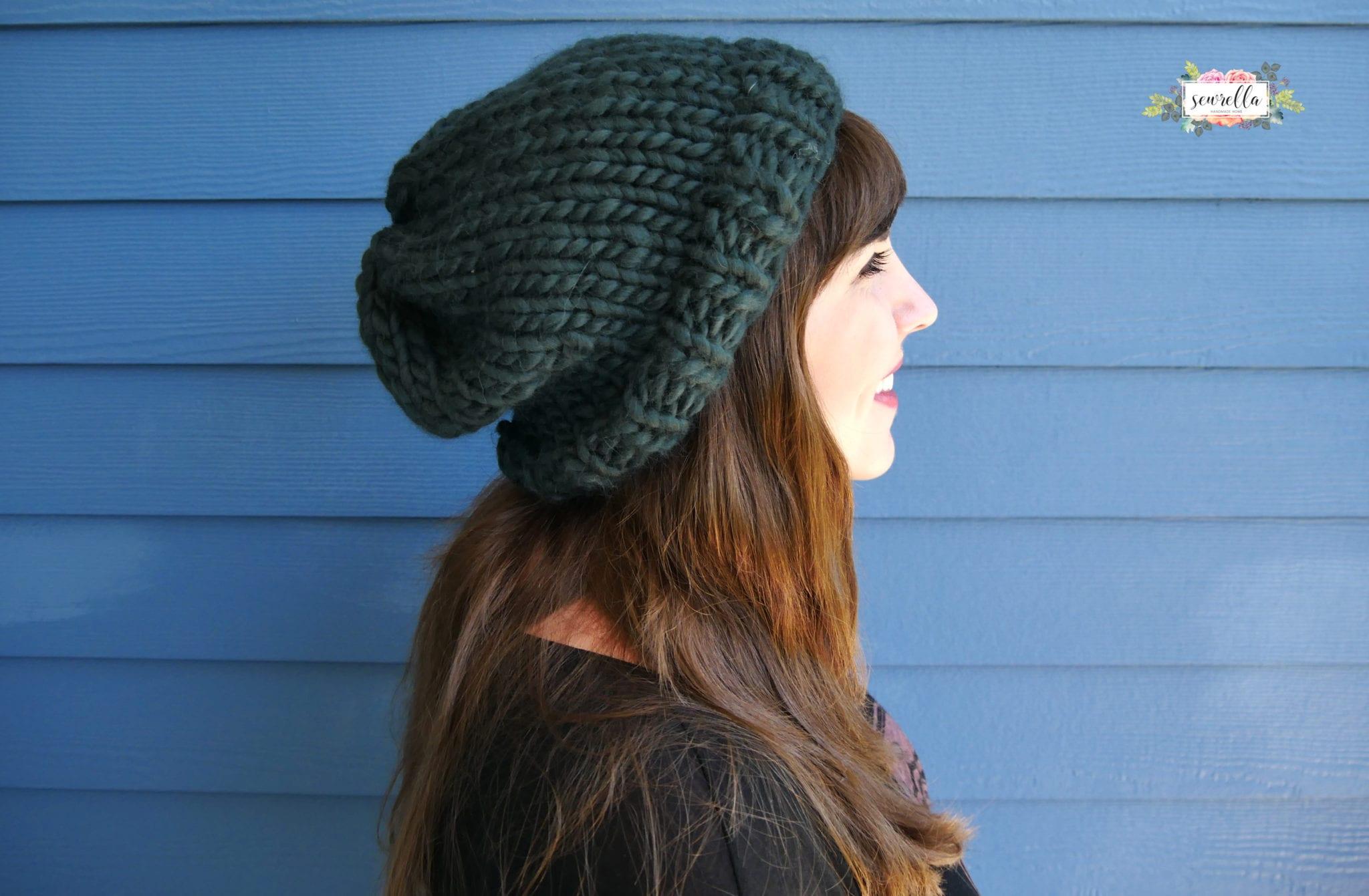 How to Knit a Basic Hat - Sewrella ed7c40e57d94
