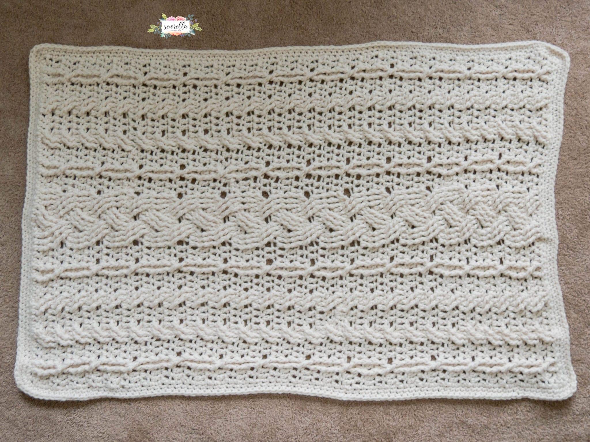 Crochet Heirloom Cabled Throw Sewrella