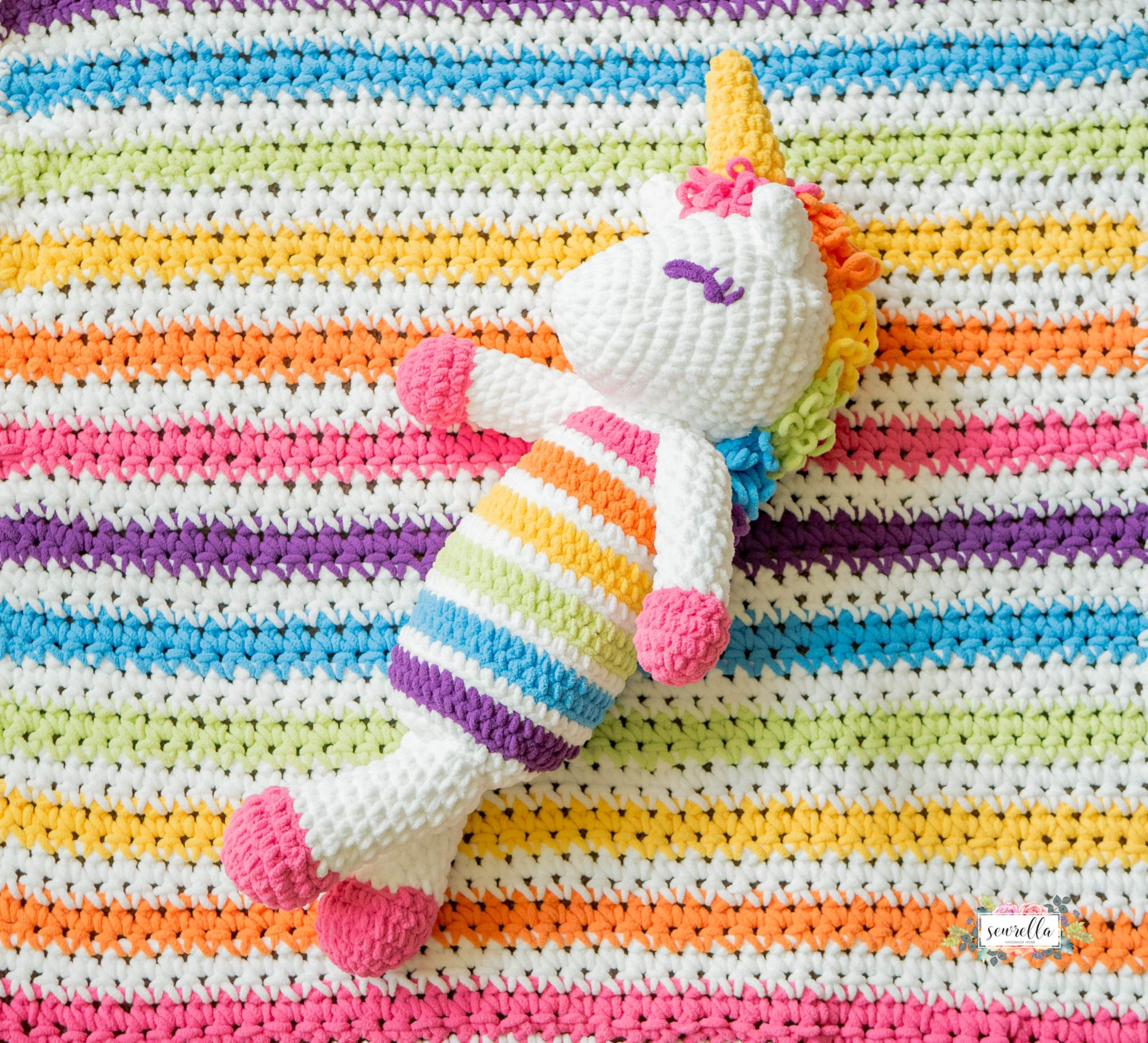 Rainbow Unicorn Amigurumi Pattern