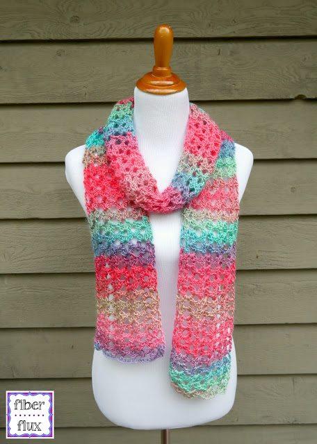 Island Lace Scarf Crochet Pattern