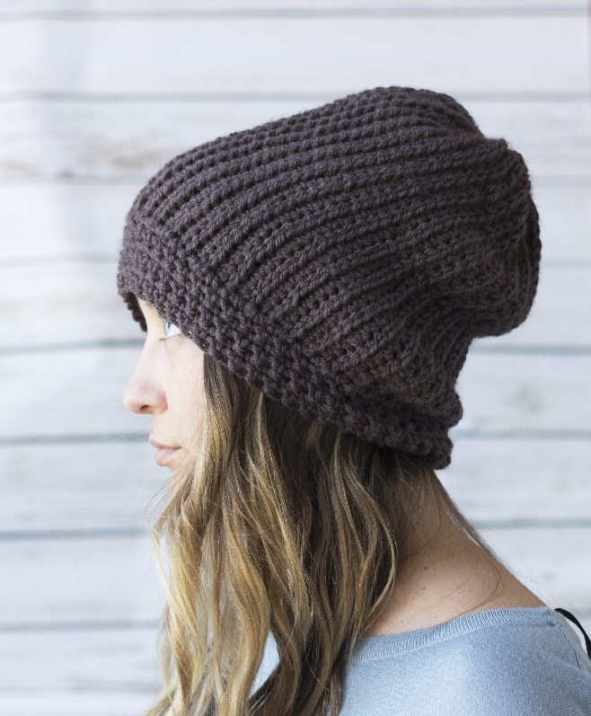 CROCHET HAT THAT LOOKS LIKE KNITTING