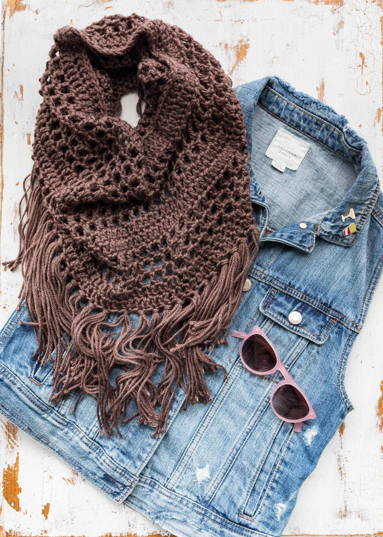 Crochet Boho Fringe Cowl With Breann Sewrella
