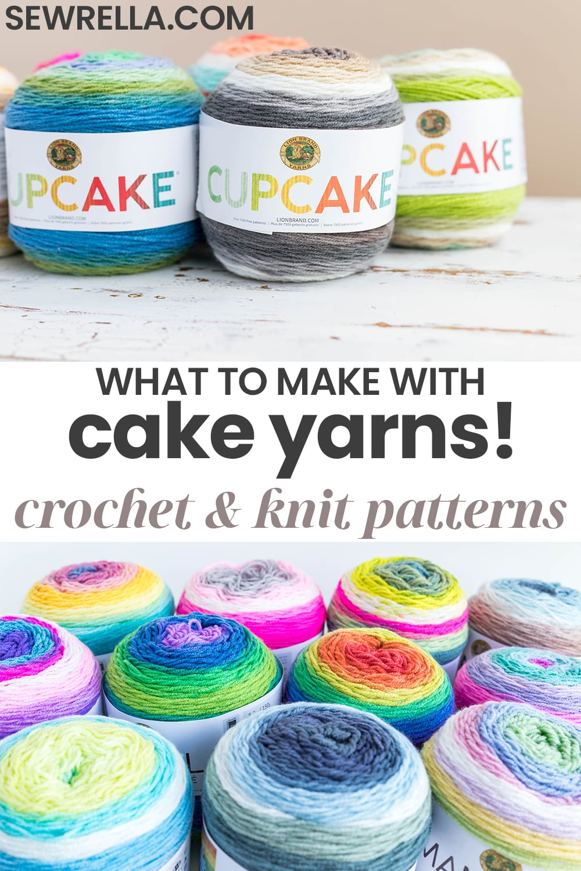 Knit And Crochet Patterns With Lion Brand Cake Yarns Sewrella