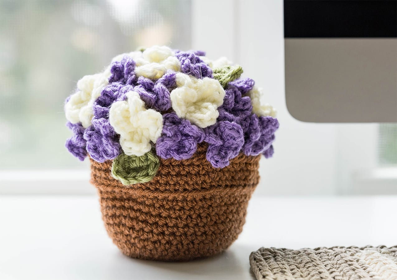 Crochet Flower Pot Sewrella