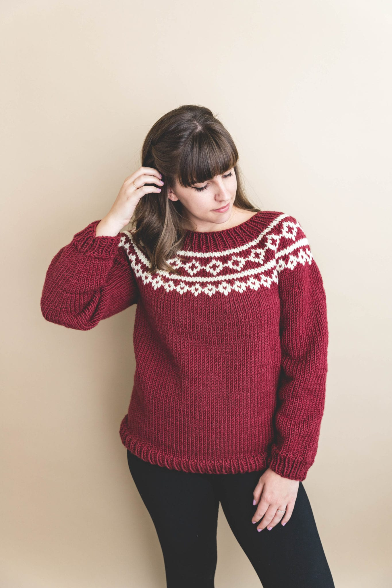 40fb4d41138a8 My First Holiday Knit Sweater! - Sewrella