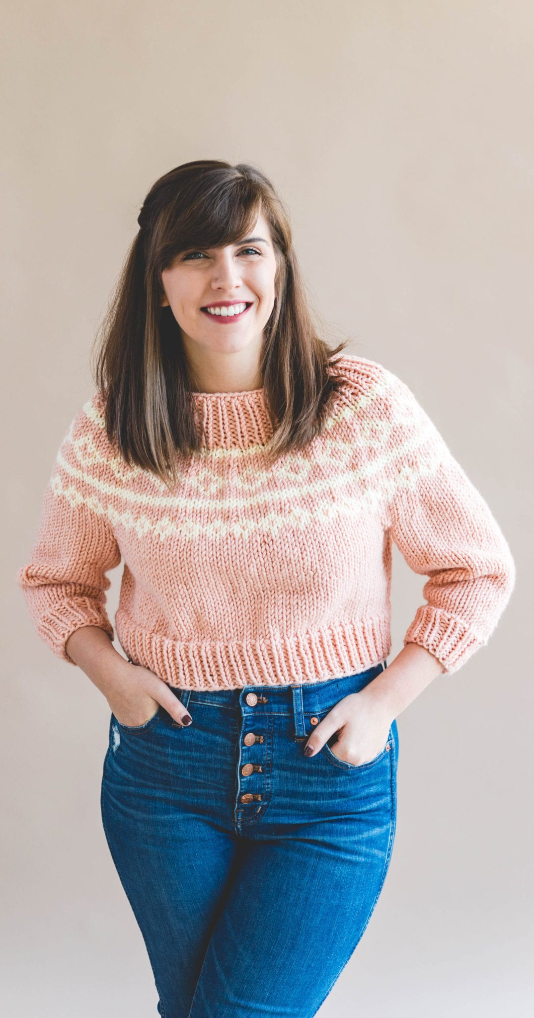 b76dae20bfd7e6 The Cropped Holiday Knit Sweater - Sewrella