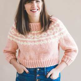 38d1a2de4 The Cropped Holiday Knit Sweater