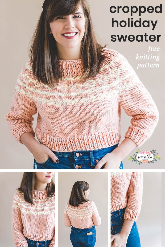 The Cropped Holiday Knit Sweater Sewrella