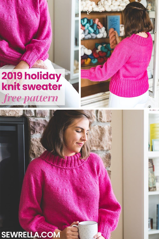 2019 Holiday Sweater - knitting pattern - Sewrella