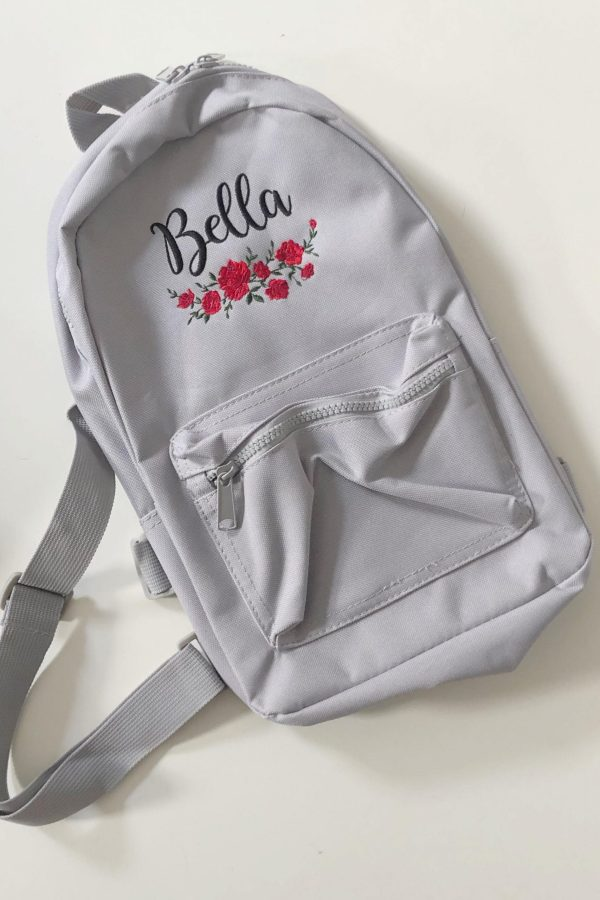 Personalised Children's Floral Backpack- www.sewsian.com
