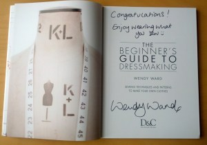Beginner's Guide to Dressmaking, signed copy