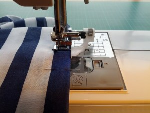 Hemming the dress