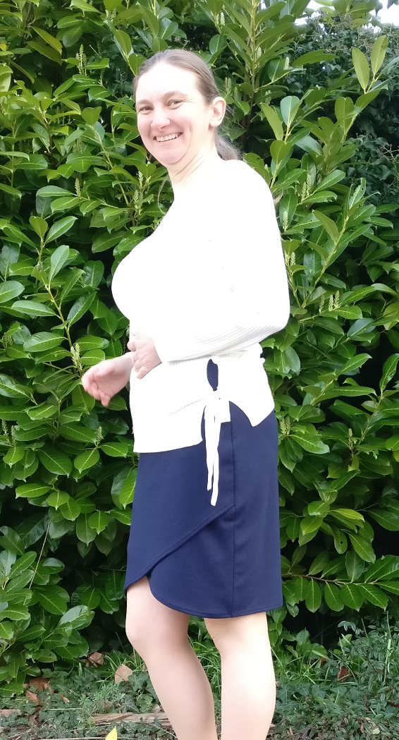 Navy Ponte Lindy Petal Skirt