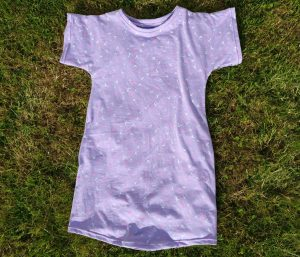 Girls Purple Jersey Nightdress Front View