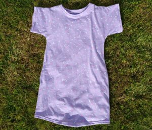 Girls Purple Jersey Nightdress Front View