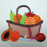 Colorful Fruit Baskets Machine Embroidery Design Bundle