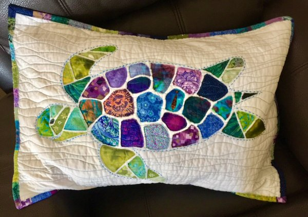 Sea Turtle Pattern for Quilted Pillow