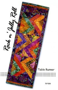 Rock N Jelly Roll Table Runner sewing pattern by Tiger ...