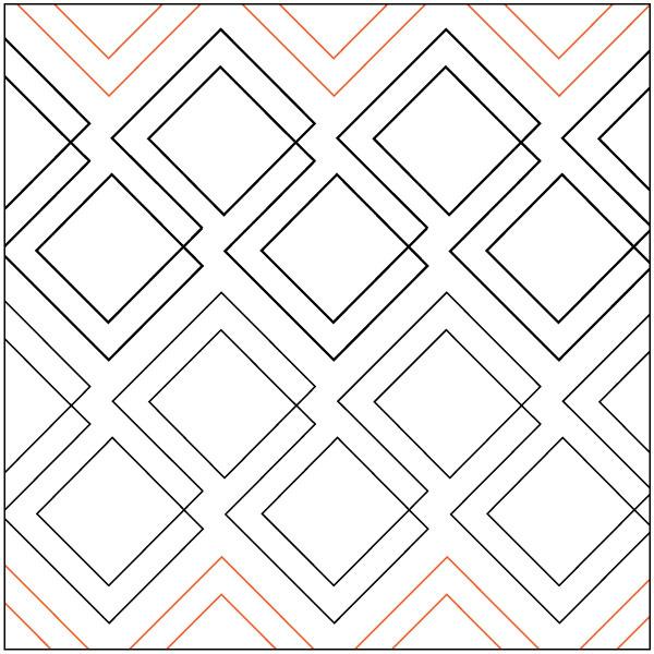 INVENTORY REDUCTION..Diagonal Plaid quilting pantograph