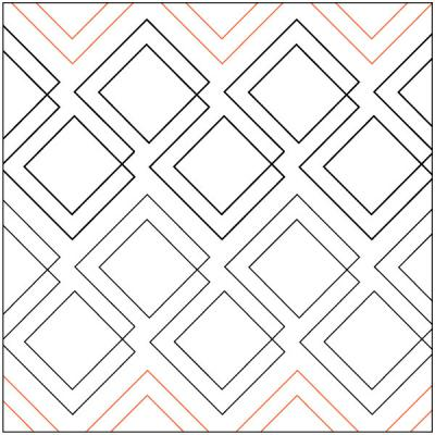 INVENTORY REDUCTION..Diagonal Plaid quilting pantograph