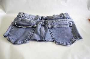 Back-of-Cut-Off-Jeans-300x199 Create New Looks From Old Jeans