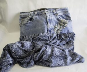 Jeans-Skirt-with-Embellishment-300x247 Create New Looks From Old Jeans