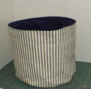 Topstitch-Around-the-Rim-of-the-Bucket-300x295 DIY Fabric Storage Bucket