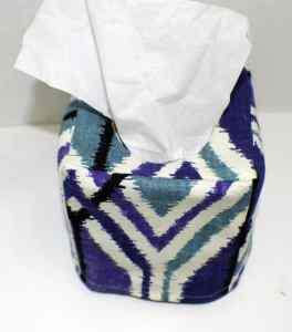 Finished-Fabric-Tissue-Box-Cover-264x300 Make a Fabric Tissue Box Cover