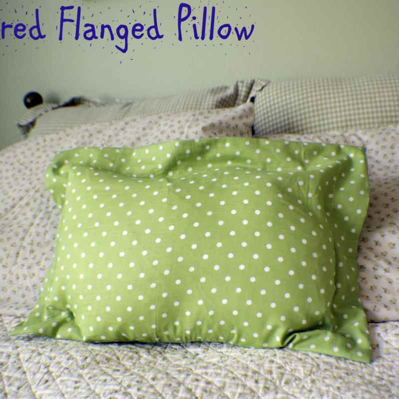 How to Make a Zippered Flanged Pillow
