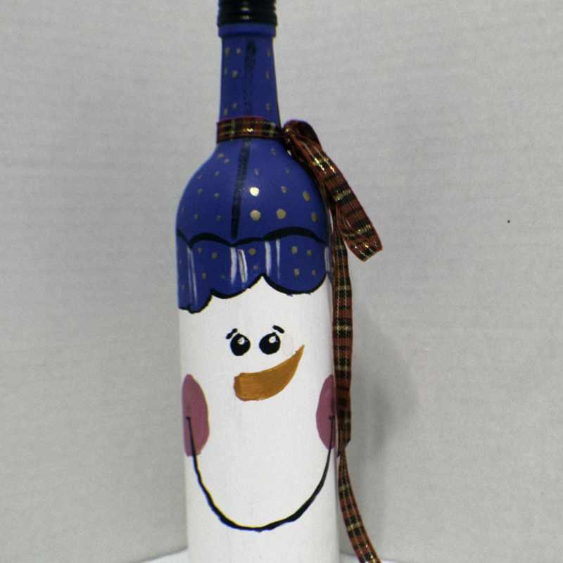 Paint Holiday Wine Bottles