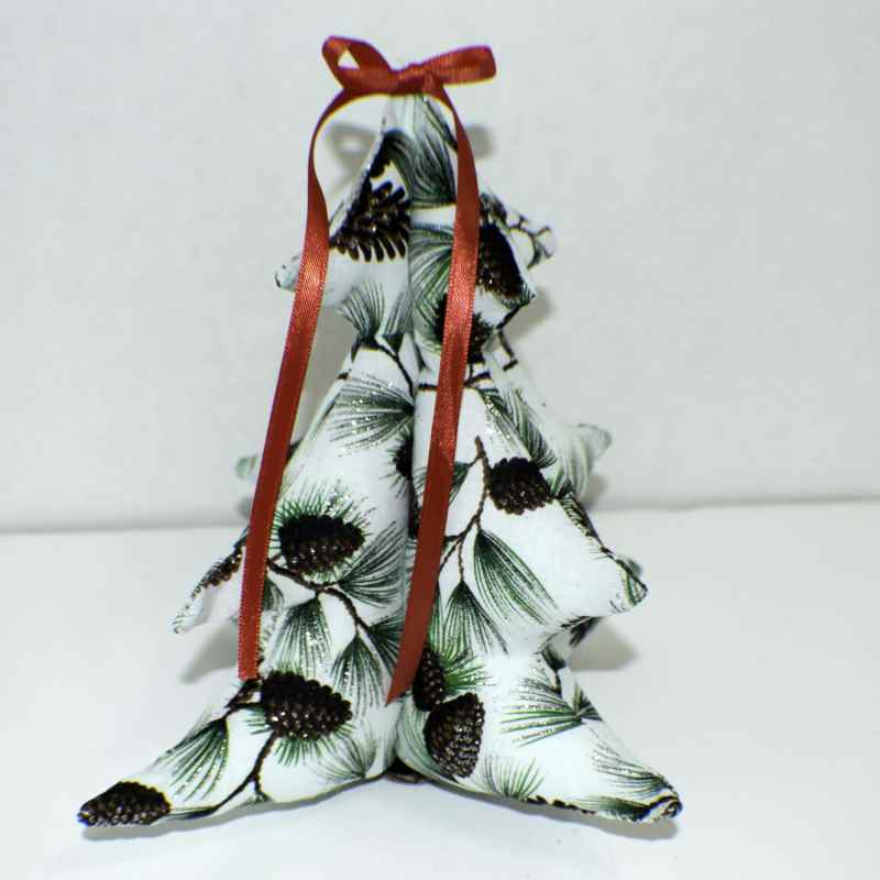 Three Dimensional Stuffed Christmas Tree